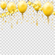 Golden Streamer and Confetti - GraphicRiver Item for Sale