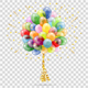 Golden Streamer Balloons and Confetti - GraphicRiver Item for Sale