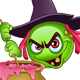 Witch Emoticon with Cauldron - GraphicRiver Item for Sale