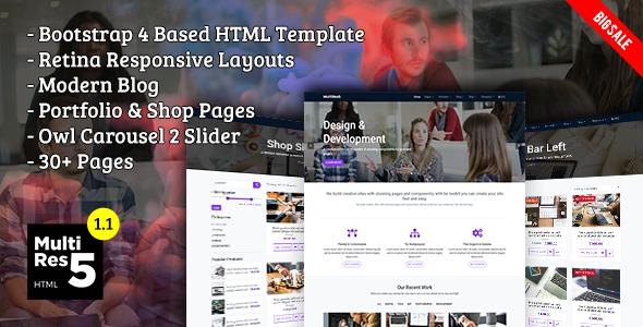 MultiRes5 - Responsive Multi-Purpose HTML Template