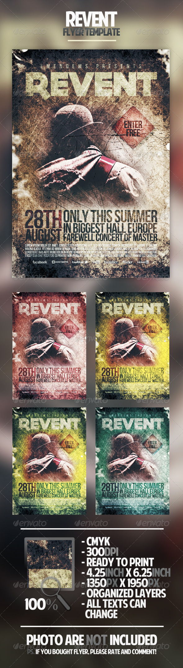 Revent Flyer Template - Concerts Events