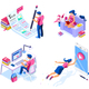 Isometric Icons for Web Page - GraphicRiver Item for Sale