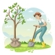 Man Planting a Tree - GraphicRiver Item for Sale