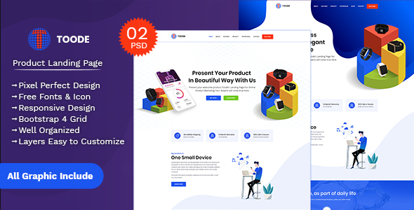 Toode - Product Landing Page