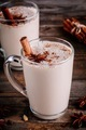 Homemade Chai Tea Latte with anise and cinnamon stick in glass mugs - PhotoDune Item for Sale