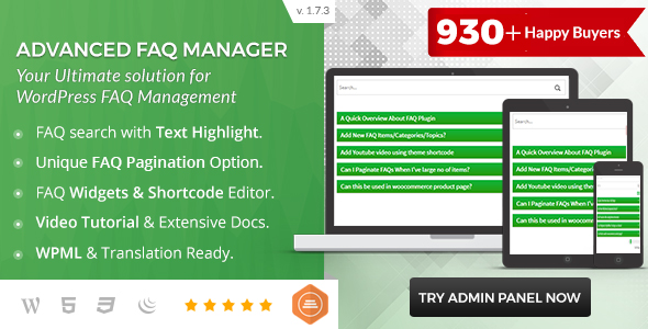 BWL Advanced FAQ Manager - CodeCanyon Item for Sale