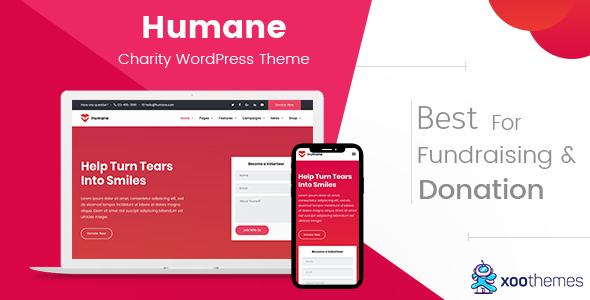 Humane – Charity WordPress Theme - Charity Nonprofit