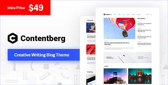 Contentberg - Blog & Content Marketing Theme - Personal Blog / Magazine