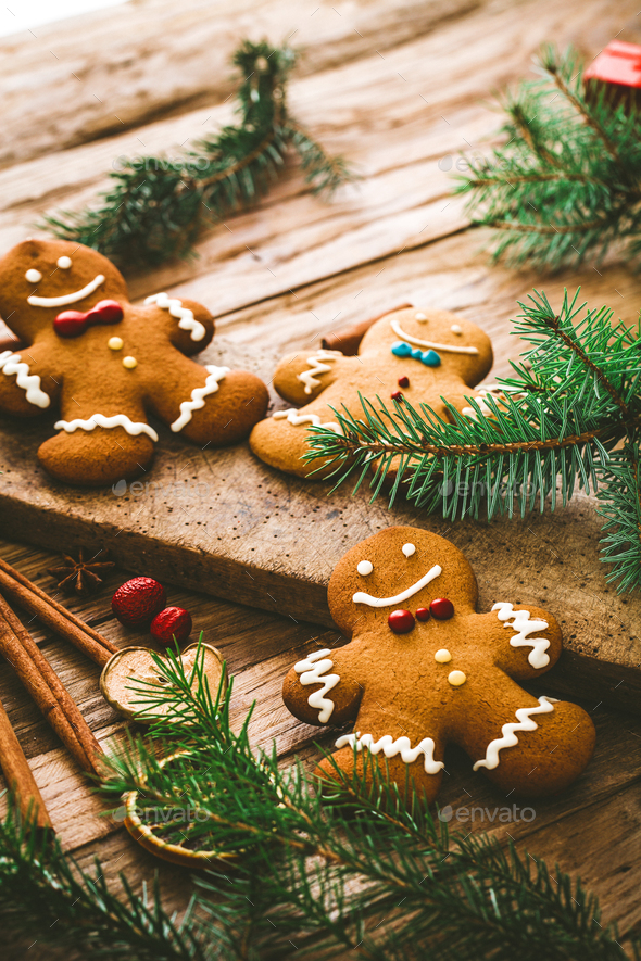 Gingerbread background - Stock Photo - Images