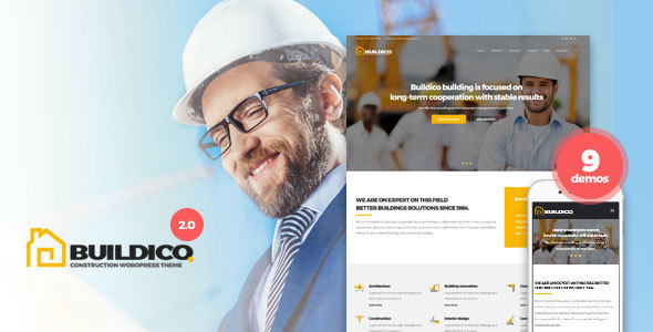 Buildico - Building Construction WordPress Theme