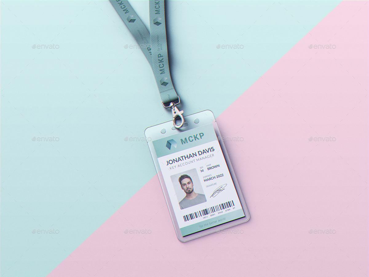 Lanyard Id Card Holder Mockup By Goner13 Graphicriver