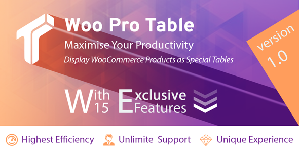 Woo Pro Table (Professional display of products as table in WooCommerce)            Nulled