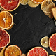 Dried slices of citrus fruit and leave - PhotoDune Item for Sale