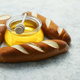 Baguettes with jar of honey - PhotoDune Item for Sale
