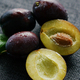 Delicious juicy plums on napkin - PhotoDune Item for Sale