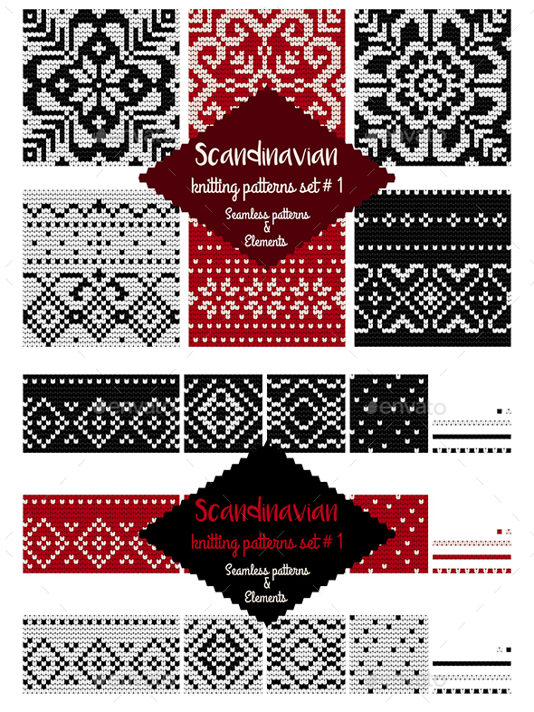 30 Scandinavian Knitting Patterns in RBW by xeniasnowstorm ...