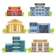 Flat City Buildings. Contemporary Office Center - GraphicRiver Item for Sale