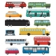 Bus Vector Public Transport Tour or City Vehicle - GraphicRiver Item for Sale