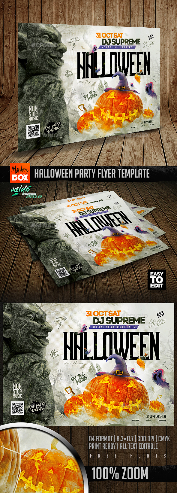 Halloween Party Flyer Template - Flyers Print Templates