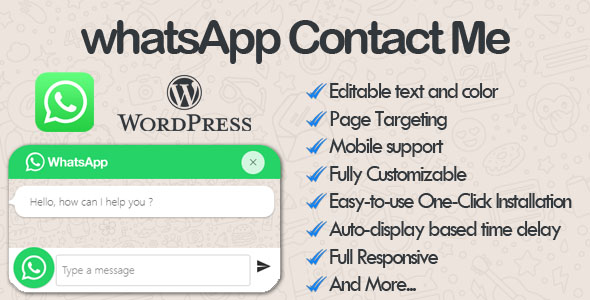 WhatsApp Contact Me - WhatsApp Chat wordpress Plugin Free Download | Nulled