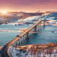 Amazing bridge during sunset in Lofoten islands, Norway - PhotoDune Item for Sale