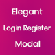 Elegant Login Register Modal