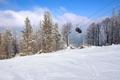 Gondola lift over the ski slope in Szczyrk - PhotoDune Item for Sale