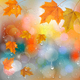 Autumn Colorful Background With  Leaves and Raindrops. Vector - GraphicRiver Item for Sale