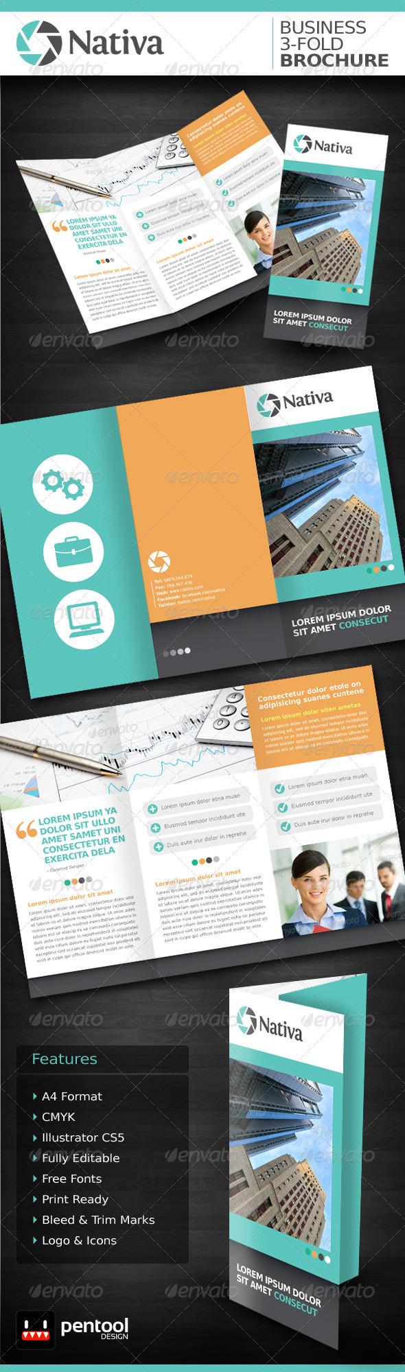 Nativa Business 3-Fold Brochure - Corporate Brochures