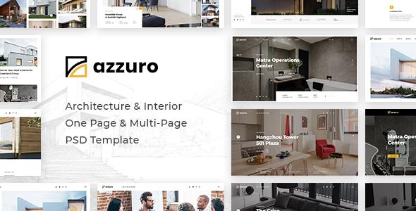 Azzuro | Architecture & Interior PSD Template - Business Corporate
