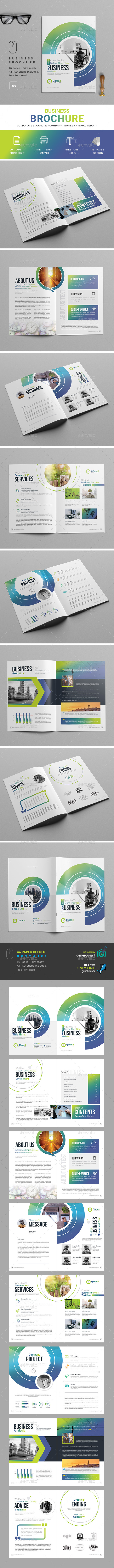 Company  Profile Business Template - Brochures Print Templates