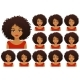 African Woman Expressions Set - GraphicRiver Item for Sale