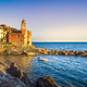 Tellaro rocks and village on the sea. Cinque terre, Ligury Italy - PhotoDune Item for Sale