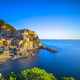 Manarola village, rocks and sea. Cinque Terre, Italy. Long Expos - PhotoDune Item for Sale