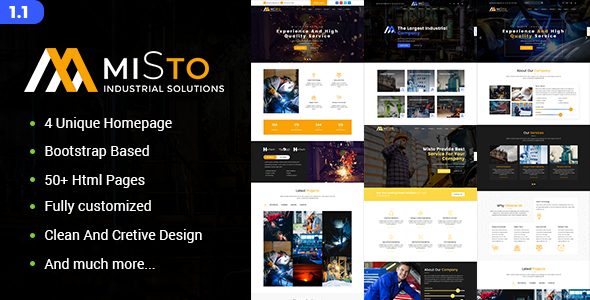Misto - Factory and Industrial HTML5 Template - Business Corporate