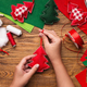 Making of handmade christmas toys from felt - PhotoDune Item for Sale