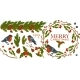 Merry Christmas, Bullfinch Birds with Mistletoe - GraphicRiver Item for Sale