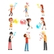 Adults and Children Blowing Soap Bubbles Set - GraphicRiver Item for Sale