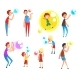 Adults and Children Blowing Soap Bubbles - GraphicRiver Item for Sale
