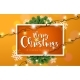 Merry Christmas Illustration with Lights Garland - GraphicRiver Item for Sale