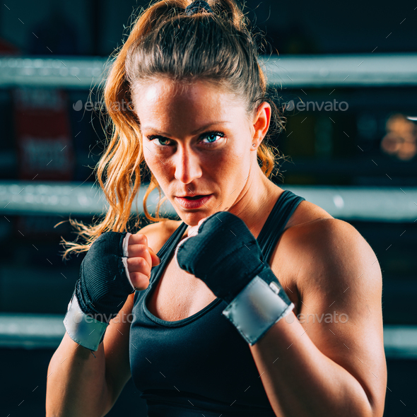 Female boxer - Stock Photo - Images