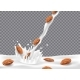 Almond Milk or Yogurt Pouring Down with Splash - GraphicRiver Item for Sale