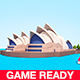 Cartoon Low Poly Sydney Opera House - 3DOcean Item for Sale