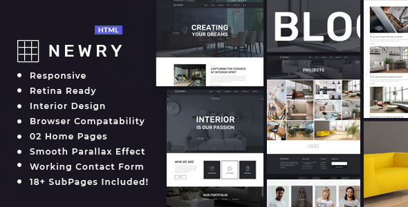 Newry - Architecture & Interior Template