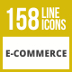 158 E-Commerce Line Icons - GraphicRiver Item for Sale
