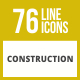 76 Construction Line Inverted Icons - GraphicRiver Item for Sale