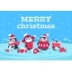 Cartoon Penguins. Christmas Baby Penguin - GraphicRiver Item for Sale