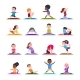Children in Yoga Poses.  - GraphicRiver Item for Sale