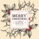 Vector Christmas Card with Holly and Mistletoe - GraphicRiver Item for Sale