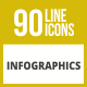 90 Infographics Line Inverted Icons - GraphicRiver Item for Sale
